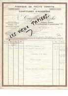 63 - Puy-de-de-dôme - CLERMONT-FERRAND - Facture CRUZILLES & ECHE - Fabrique De Fruits Confits - 1926 - REF 90C - France