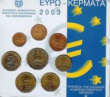 GRIEKENLAND EUROSET 2003 , UNC, BLISTER - Grèce