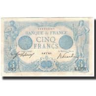 France, 5 Francs, 5 F 1912-1917 ''Bleu'', 1915-03-18, SUP, Fayette:2.25, KM:70 - 1871-1952 Anciens Francs Circulés Au XXème