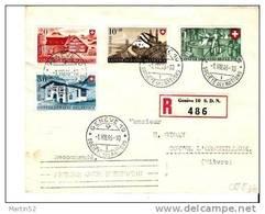 "Schweiz Suisse R-Brief Pro Patria 1946: Zu 30-33 Mi 471-474 Yv 428-431 Mit O ""GENÈVE 1.VIII.46"" SOCIETÉ DES NATIONS (65) - Pro Patria"