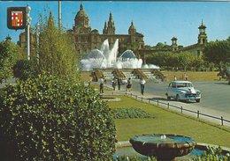 Barcelona - Fuente Monumental Y Palacio Nacional De Montjuich.  Spain   # 07696 - Barcelona