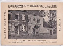 Buizingen, Buysinghen, Restaurant Bruxellois, Aug. Piek, 2 Scans - Halle
