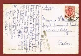 Kaart Stempel Hotel   Belvedere Bellagio - 1900-44 Victor Emmanuel III