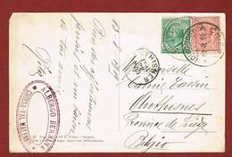 Kaart Stempel Hotel   Albergo Bernina Chiesa Val Malenco 1919 - 1900-44 Victor Emmanuel III