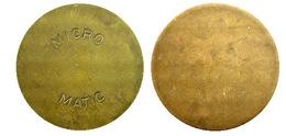 02447 TOKEN JETON NETHERLANDS ADVERTISING VENDING MICRO MATIC LARGER - Unclassified