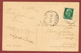 Kaart Stempel Hotel  Flora Roma 28.8.1933 - 1900-44 Vittorio Emanuele III