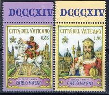 PIA - VATICANO : 2014 : 1200° Anniversario Della Morte Di Carlo Magno  - (SAS  1656-57) - Vaticano