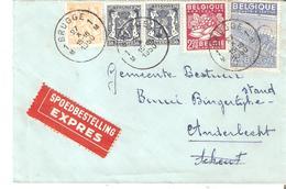 L. EXPRES TP. N° 426(2)-710-769-771 BRUGGE 1 Du 27/10/1950 V/Anderlecht - 1948 Export