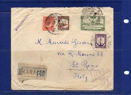 ##(DAN186/1)-1951-  Registerd Cover From  Karachi To Italy - Pakistan