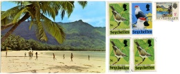 SEYCHELLES   The Beach  5 Nice Stamps  Bird Theme - Seychellen