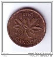 Canada, 1961, 1¢, Élizabeth II - Canada