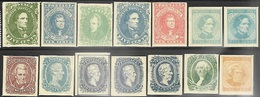 US   Sc#1-14  Fascimiles MNG  Spacefillers Good For Identification - 1847-99 General Issues