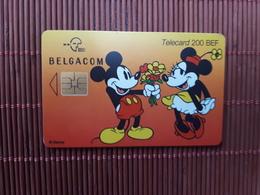 Phonecard Disney Mickey & Minnie Used - Belgium