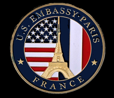 US Embassy  Paris ,Eiffel Tower - Tourist