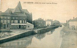 CPA - Le CHESNE (08) - Aspect De L'allée Du Canal Et Du Chemin De Halage Vers Les Ecluses Dans Les Années 20 - Le Chesne