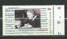 Germany 2003 The 100th Anniversary Of The Birth Of Theodor W. Adorno, 1903. MNH - [7] Federal Republic