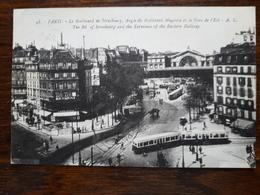 L4/14 Paris . Le Boulevard De Strasbourg , Angle Du Boulevard Magenta Et La Gare De L'Est - Métro Parisien, Gares