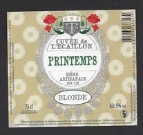 Etiquette De Bière Blonde  -  Printemps   -  Brasserie Terre Et  Tradition  à  Quérénaing  (59) - Bière