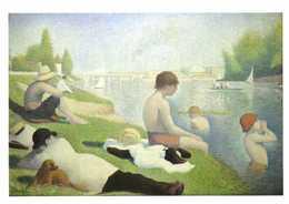 Georges Pierre SEURAT  Bathers At Asnières Baigneurs à Asnières RV - Paintings