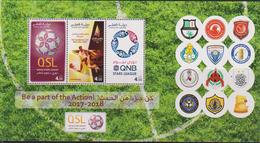 QATAR, 2017, MNH,SOCCER, FOOTBALL, QATAR STARS LEAGUE , QATAR FOOTBALL TEAMS,   SHEETLET - Soccer