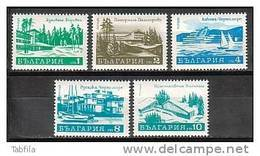 BULGARIA / BULGARIE ~ 1971 - Series Courants - Tourisme - 5v** - Bulgarie