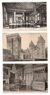 "64 - PAU . CHÂTEAU . "" LE GRAND SALON "", "" CHAMBRE HENRI IV "" & "" Façade "" . 3 CARTES POSTALES - Réf. N°9876 - - Pau"