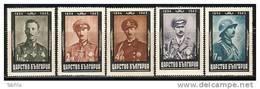BULGARIA \ BULGARIE - 1944 - Anniversaire De La Mort De Roi Boris - 5v Dent.** - Nuevos