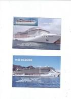 CRUISE SHIP 4 POSTCARDS  SHIPS OF THE M.S.C.  FLEET - Ships