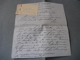 LETTRE AUTOGRAPHE SIGNEE SUR LA PIANISTE ET COMPOSITRICE CECILE CHAMINADE 1879 COTISATION ECOLE MUSIQUE à BUSSINE - Autógrafos