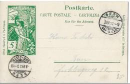117 - 79 - Entier Postal UPU Avec Cachets à Date Bern 1900 - Postwaardestukken