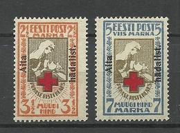 Estland Estonia 1923 Michel 46 - 47 A * Signed K. Kokk - Estland
