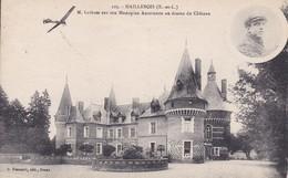 [28] Eure Et Loir > Maillebois M Latham Sur Son Monoplan Au Dessus Du Chateau - France