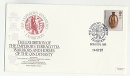 1987 LONDON TERRACOTTA WARRIORS EXHIBITION EVENT COVER Shaanxi China ARCHAEOLOGY Corps GB Stamps - Archaeology