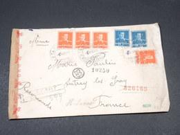 ROUMANIE - Enveloppe En Recommandé De  Târgu Neamț Pour La France En 1942 Avec Contrôle Postal - L 19402 - 1918-1948 Ferdinand, Charles II & Michael