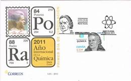 29011. Carta F.D.C. BARCELONA 2011. Año De La QUIMICA, Marie Curie - FDC