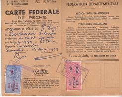 Timbre Fiscal - Permis De Pêche  Association De St Lys (31) 1959 - Fiscaux