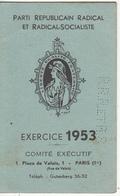 Carte Du PARTI RÉPUBLICAIN RADICAL Et RADICAL SOCIALISTE 1953 - Partiti Politici & Elezioni