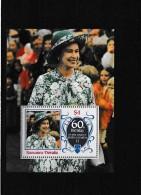 A09060)Queen Elisabeth 2. / QE II: Tuvalu-Nanumea Bl 4** - Tuvalu