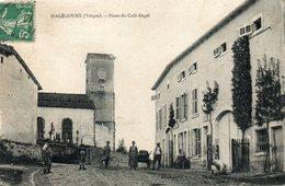 CPA - HAGECOURT (88) - Aspect De La Place Du Café Begel En 1910 - Autres Communes