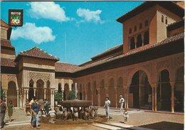 Granada - Alhambra. Patio De Los Leones.  Spain.  # 07702 - Granada