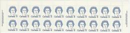 CANADA 1973 SCOTT/UNITRADE 591** TOP OF  SHEET PLATE 1 CAT VALUE US $4.50 - Ganze Bögen
