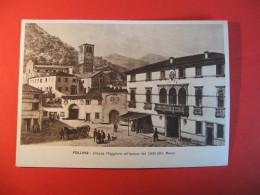CARTOLINA FOLLIAN  PIAZZA MAGGIORE ALL EPOCA DEL 1800   ANIMATA    E - 2 - Treviso