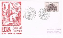 29016. Carta Exposicion ELDA (Alicante) 1980. FERIA Del CALZADO - 1931-Hoy: 2ª República - ... Juan Carlos I