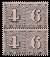 Centenario Del 1° Francobollo Di Zurigo (coppia) - 1943 - Neufs