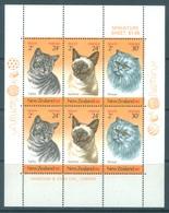NEW ZEALAND - MNH/** - 1983 - HEALTH  CATS - Yv Bloc 48 Mi 878-880 SG MS1323 Sc B117a  - Lot 17137 - Blocks & Sheetlets