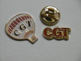 Pin's - Syndicat CGT Lot De 2 Pin's - Administrations