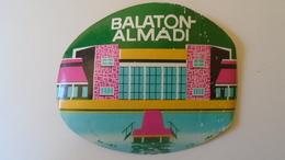 P1005.19  Luggage Label  - Hungary  - Balatonalmádi - Hotel Labels
