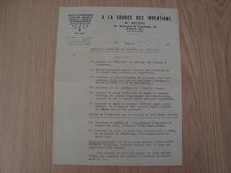 LETTRE A LA SOURCE DES INVENTIONS Mme MICHEL JOUETS PARIS 194? - France