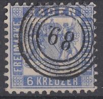 Baden Minr.19 Gestempelt Nr.-St. 89 Meersburg - Baden