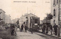 CPA De PONT SAINT-VINCENT - Rue Nationale(Belle Animation). - Frankreich